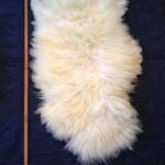 14-226-1 Border Leicester/Corriedale Cross sheepskin, fleece side $140